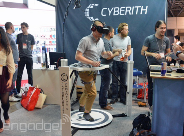Jog Around Wearing your Oculus Rift with Cyberith Virtualizer 1