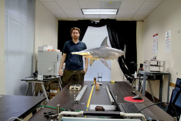 Magic Leap's vision of putting virtual objects on top of real ones. Photo: Magic Leap
