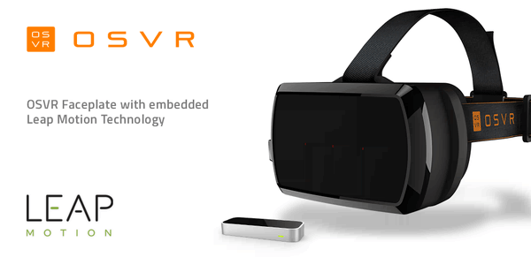 The new OSVR HDK with the optional Leap Motion faceplate. Photo: OSVR
