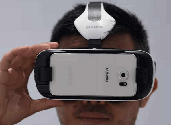 The new Samsung Gear VR for the Galaxy S6 and S6 Edge. Photo: Getty Images