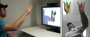 The Microsoft Handpose, a fully articulated hand tracking technology. Photo: Microsoft Research